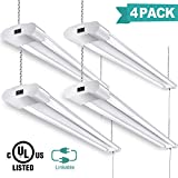Linkable LED Shop Lights for Garage 4FT 40W 4200 Lumens 5000k Led Garage Light (4pack)