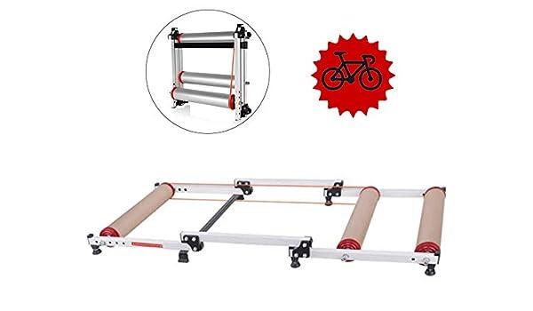 FHUILI Rodillos Bicicleta Plegable Moto - Entrenamiento la ...