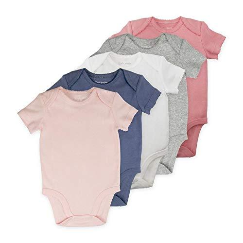 Baby Girl Bodysuit Set, 5-Pack Short Sleeve Bodysuits