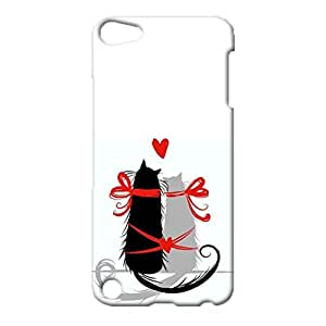 3d Protective Cover for iPod Touch 5th Generation,Creative Happy Cat Couples Series Pattern Phone Case Snap on iPod Touch 5th Generation