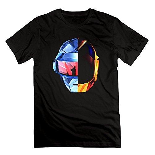 Leslie Mans Daft Punk Random Access Meories Cool Helmet Tshirts Black XL