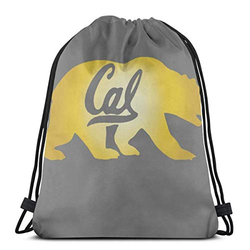 Gym Drawstring Bags Berkeley Cal Golden Bears Lightweight Canvas Shoulder Bag Dance Bags Backpack Sport Sackpack (Cal Bears Backpack)
