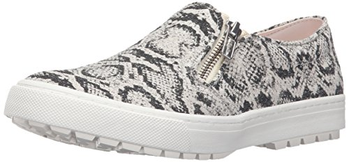 Juno Canvas (Roxy Women's Juno Zip Fashion Sneaker, Black/White, 8.5 M US)
