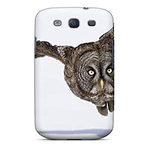 LxmFuEY4503BLgNA Tpu Case Skin Protector For Galaxy S3 Owl Flying With Nice Appearance