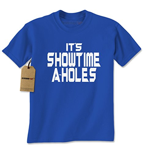 [Mens Its Showtime Aholes T-Shirt X-Large Royal Blue] (Gamora Costume Top)