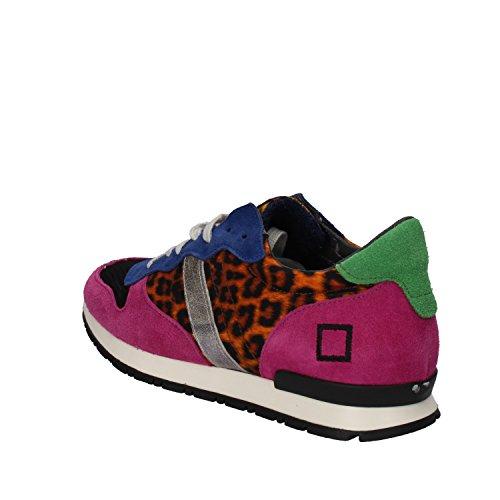 Femme Sneakers D Textile a date e t Multicolor qnZwSp