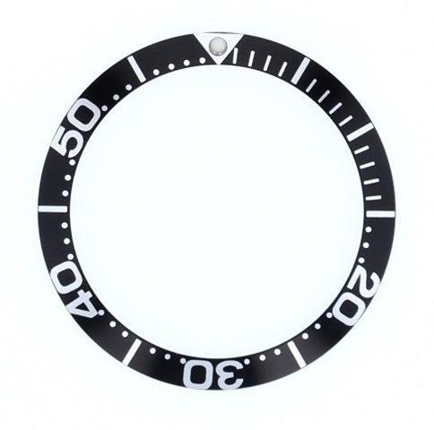 ewatchpartsベゼル挿入for Invicta 9094、9094ob Pro Diver自動大きいフォントブラック  B07D6V8569