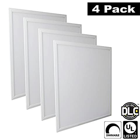 Luxrite LR24054 (4-Pack) 45W 2x2 FT LED Panel, Dimmable, Daylight White 6500K, 4500 Lumens, 24x24 Inch, UL-Listed, DLC-Listed (Eligible for Rebate Programs)