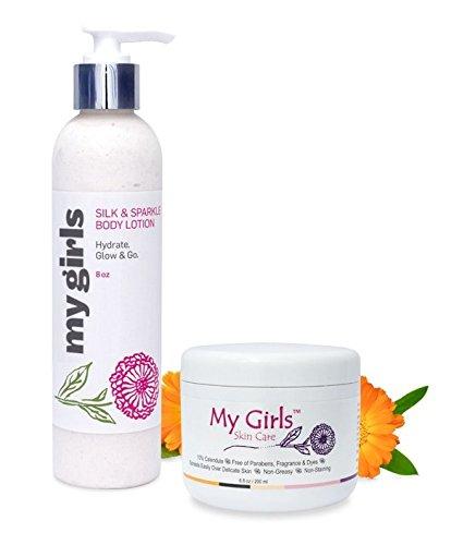My Girls Skin Care Radiation Burn Care Calendula Cream for Breast Cancer PLUS 8 Oz Lemon & Bergamot Body Lotion by My Girls Skin Care