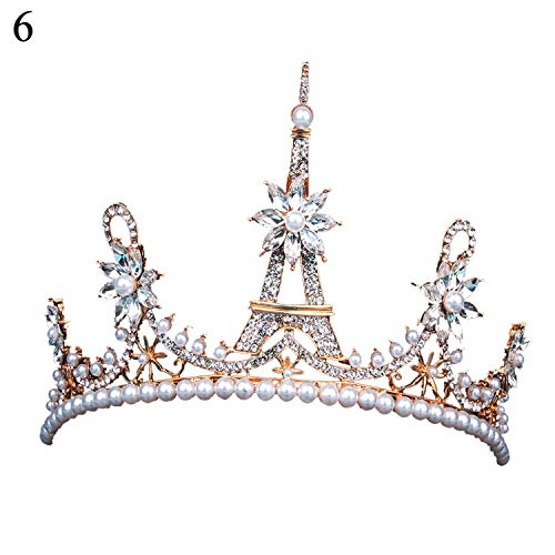 Luxury Faux Pearl Wedding Tiara Crown Headband Hair Hoop Headdress New Arrival,6