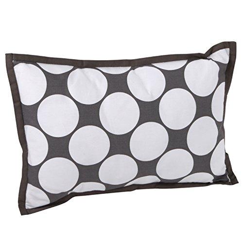 - Dots/Pin Stripes Grey/Yellow Dec Pillow