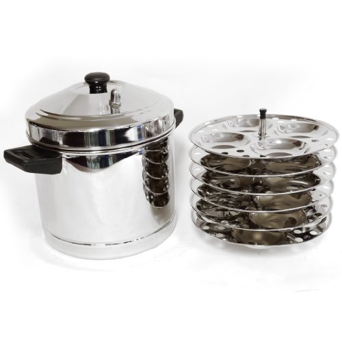 Amazon.com: Matbah 6-Plates Racks Stainless Steel Idly Cooker, 24 Idlis: Pressure Cookers: Kitchen & Dining