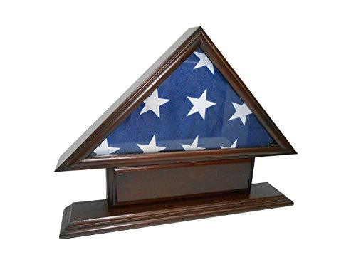 5x9-Flag-Case-for-Veteran-Funeral-Burial-Flag-With-Name-Plate
