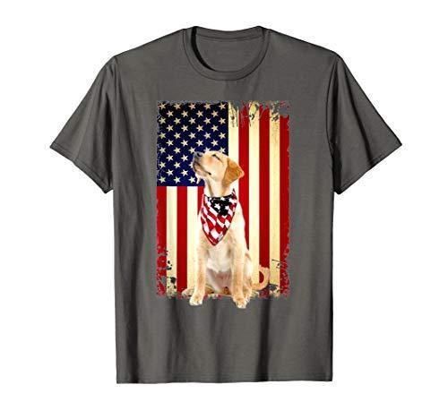 Labrador Retriever Smile Flag T Shirt, Labrador -