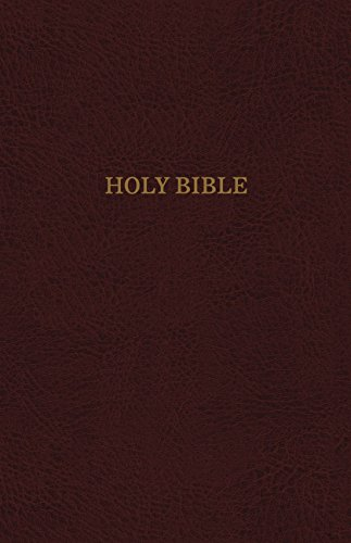 KJV, Reference Bible, Personal Size Giant Print, Bonded Leather, Burgundy, Indexed, Red Letter Edition, Comfort Print