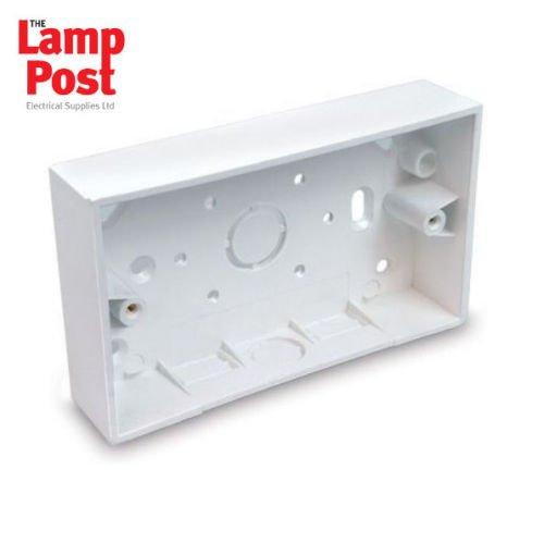 5 x Univolt SFB2 Surface Box Square Corners White PVC Double Trunking Pattress
