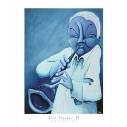 Buyartforless Blue Jazzman I by Patrick Daughton 7 X 5 Art Print Poster