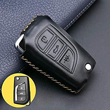 Sophisticate Accesorios para automóviles Funda de cubierta para llaves araba aksesuar para 3 Botones Toyota Corolla Prado Fortuner RAV4 Plegable flip Remote Protect