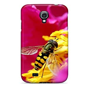 Hot Style PhA3397JKEa Protective Case Cover For Galaxys4(bee Flower In Hd)