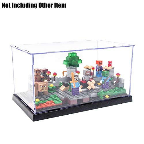 [해외]오도 리아 투명 아크릴 자기 조립 디스플레이 박스 케이스 9.4 \\ / Odoria Clear Acrylic Self-Assembly Display Box Case 9.4 Long 3 Steps Black for Minifigure Display Dustproof