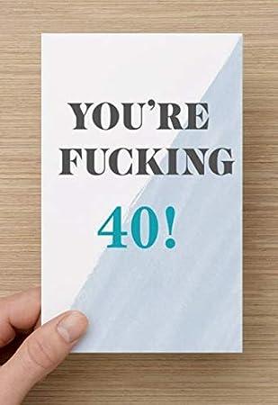 Amazon.com: Tarjeta de 40 cumpleaños con texto en inglés ...