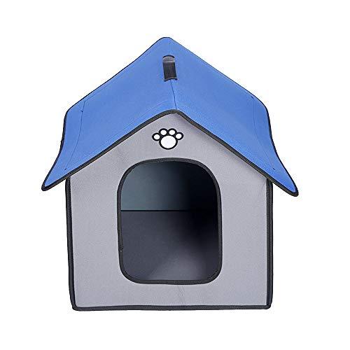 Yiuu Portátil Mascota Perro Casa - Perro Dormir Cama, Al Aire Libre Impermeable y Plegable Nido con Desmontable,Gray,Large