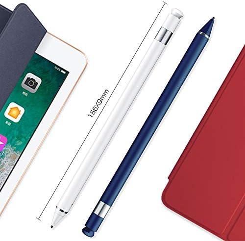 iPartsBuy CellphoneMall Stylus Pen High Precision Active Capacitive Pen Stylus Pen Navy Blue Color : White