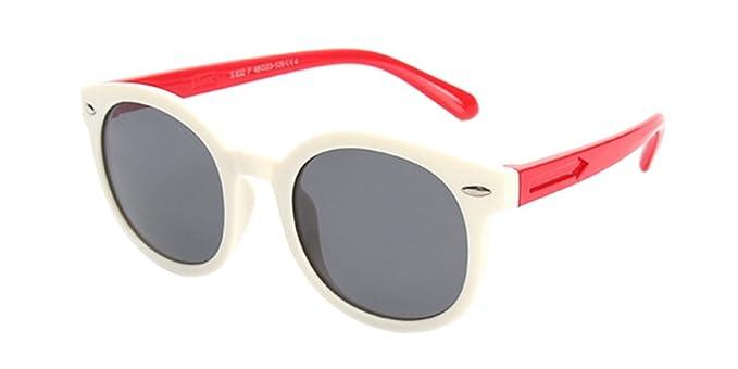 BOZEVON Gafas de Sol para Unisexo Niños Niñas Flexible Rubber Deportivas Polarizadas Wayfarer Clásico Gafas,