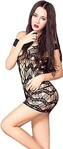 Womens Sexy Fishnet Club Mini Body Mesh Tube Bodycon Tube Dress
