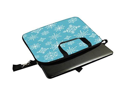 Snoogg Jahreszeiten Frühling Blau 30,5cm 30,7cm 31,8cm Zoll Laptop Notebook Computer Schultertasche Messenger-Tasche Griff Tasche mit weichem Tragegriff abnehmbarer Schultergurt für Laptop Tablet P
