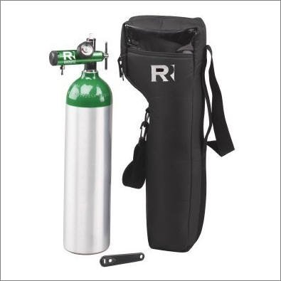 Oxygen Essentials Kit! Includes: 15 LPM oxygen regulator, D cylinder, wrench & D shoulder carry case by Responsive Respiratory