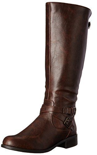 Soda Women's Bio-S Riding Boot, Brown Polyurethane, 7.5 M US