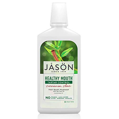 (JASON Healthy Mouth Cinnamon Clove Tartar Control Mouthwash, 16 oz Bottle)