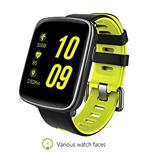 SUMBOAT GV68 Smart Watch with CPU Compatible with iOS No SIM Card and Android and Camera Support Bluetooth Heart Rate Sensor and Build in Battery