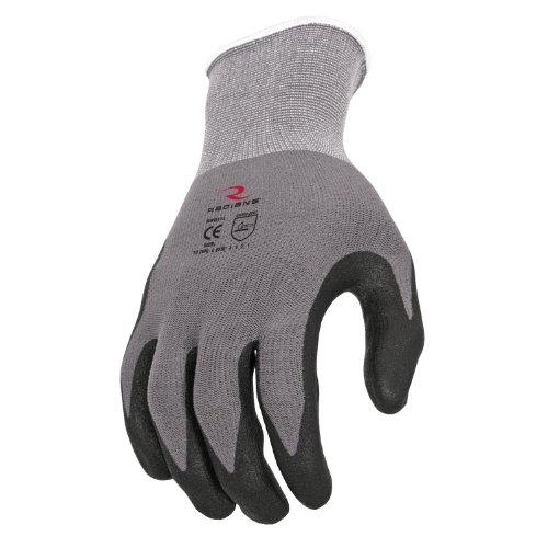 Spandex Unisex Glove (Radians RWG11S 15G Nylon Spandex Shell Foam Microdot Dip Glove (12 per Pack), Small)