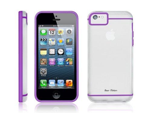 Bear Motion (TM) Premium Slim iPhone 5C Frosty Back Cover Case for Apple iPhone 5C (Purple)