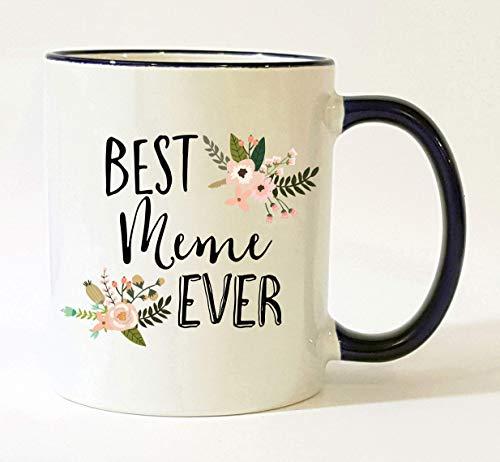 Meme Mug Meme Grandma Mug Best Meme Ever Meme Coffee Cup Mother's Day Gift Christmas Present Birthday Gifts Pretty Feminine Floral Flowers (Christmas Meme Gifts)