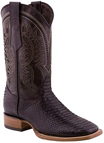 Texas Legacy - Mens Brown Snake Western Wear Cowboy Boots Pattern Leather Square Toe 10 D(M) US
