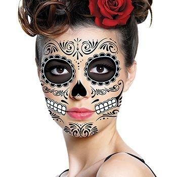 Traditional Sugar Skull Temporary Tattoos | Skin Safe | MADE IN THE USA| -