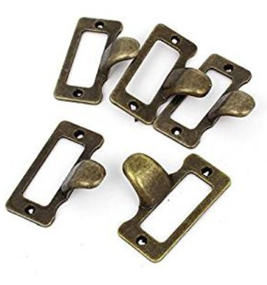 20Pcs Antique Iron Label Frame Card Holder Cup Pull Handle Drawer Box Case Cabinet Cupboard Carpenter Repair decoration - Holders Label Card