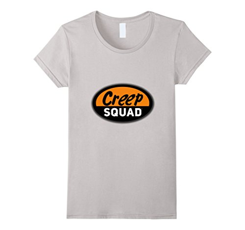 Women's Creep Squad Geek Squad Parody Black T-Shirt Large...