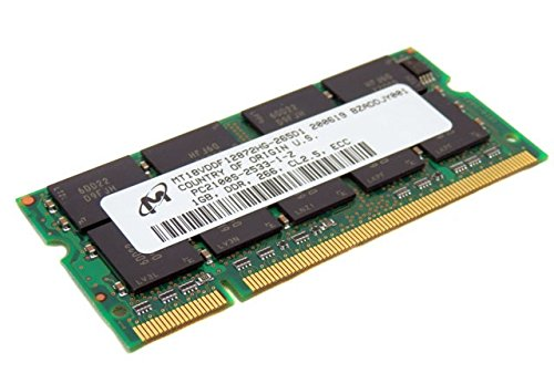 Micron 1GB PC2100 CL2.5 ECC DDR SoDimm Memory Module MT18VDDF12872HG-265D1 (Pack of 2)