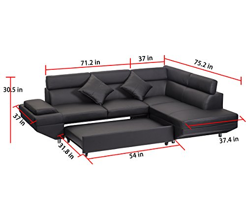 Corner Sofas Sets For Living Room, Leather Sectional corner Sofa with Functional Armrest and support