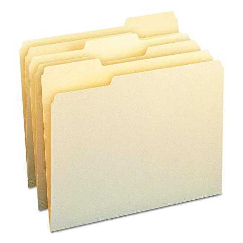 (Smead File Folder, 1/3-Cut Tab, Letter Size, Manila , Assorted Positions, 100 Per Box (10330))