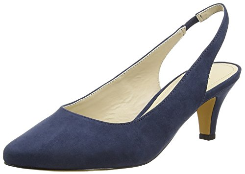 Another Pair of Shoes PalineK1, Damen Slingback Pumps, Blau (denim blue675), 40 EU