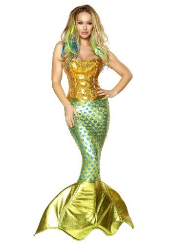 (Women's Sexy Siren of the Sea Mermaid Deluxe Costume)