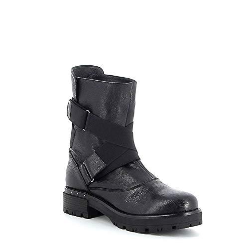 Tiffi En Élastiques Cuir Boots Noir gw1qnxgrWf