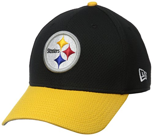 NFL Pittsburgh Steelers 2015 Team Color Training Camp 39Thirty Stretch Fit Cap, Small/Medium, Black