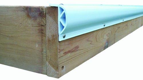 Dock Edge + Inc. ProDock Commercial Grade Dock Bumper Profile Heavy Slant P, 3-8-Feet Sections (24-Feet, White)