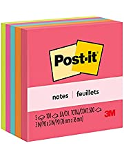 """Post-it Notes Original Sticky Notes, 3"""" x 3"""", 5 Pads, 100 Sheets/Pad, Cape Town Colours"""